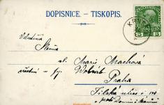 1908 KRNSKO - vila Herda - seznámkou / zdroj: https:burda-auction.com
