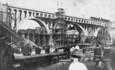 Přestavba viaduktu vroce 1924/ zdroj: Boleslavan 09/19