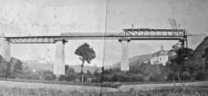 Průběh rekonstrukce viaduktu vroce 1884/ zdroj: Boleslavan 09/19