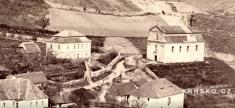 Krnsko cca 1865- výřez / pohled nafaru acesty kolem